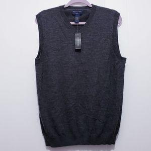 Banana Republic Gray Wool knitted Sweater Vest M